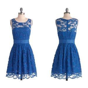 Bb Dakota Blue lace fit & flair dress 2
